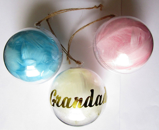 Personalised Feather Christmas Tree Bauble
