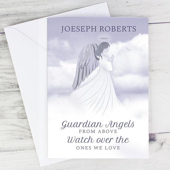 Personalised Guardian Angel Card