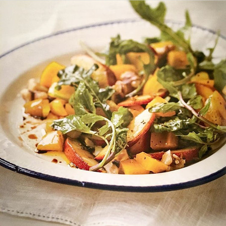 Peach Arugula Salad