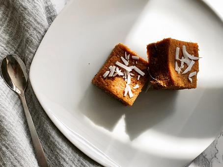 No-Bake Sweet Potato Gingerbread Bars
