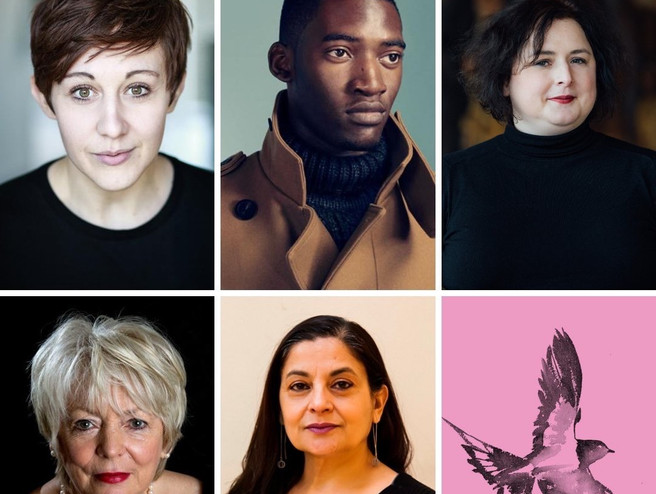 Theatre 503 hosts Letters to the Earth, April 2019,with Alison Steadman, Malachi Kirby, Sudha Bhuchar, Charlotte Josephine, Siobhan McSweeney & Jessica Sian