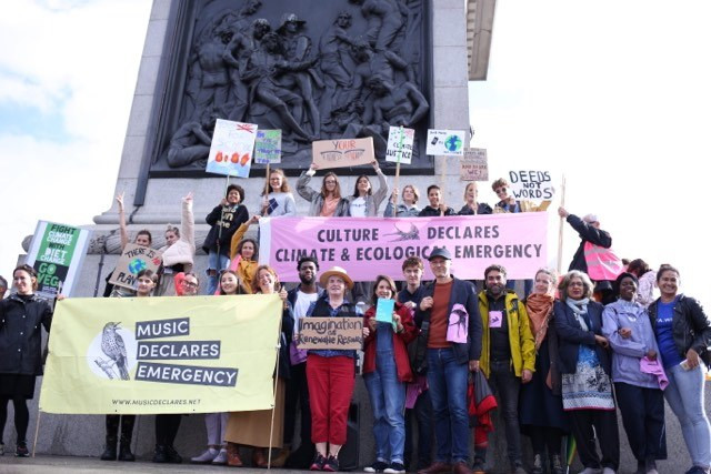 Culture Declares, Music Declares and Architects Declare Emergency co-host 'Rally for the Imagination', Trafalgar Sq, 27th Sept 2019
