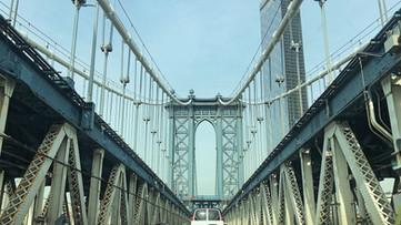 Brooklyn, NY bridge.