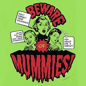 Mummy Halloween t-shirt for men and women, in many colors and styles.