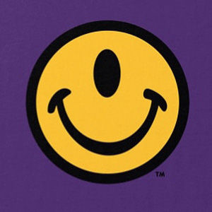 One-eye smiley face t-shirt design in many colors, mens and womens.