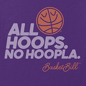 Hoops t-shirt in many colors for men and women.