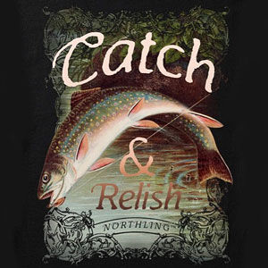 Fishing shirt design for men and women in many colors of merchandise, including sweatshirts and hoodies.