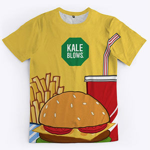 Fast food t-shirt for men and women.
