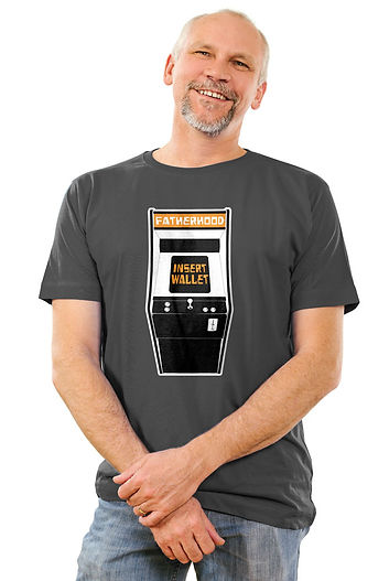 funny-dad-t-shirt-video-game-gray-short-