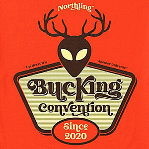 Buck shirt design for men and women in many colors of merchandise, including sweatshirts and hoodies.