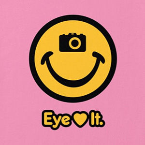Eye love photography t-shirt design in many colors.