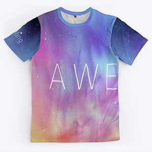 Northern lights design on a t-shirt that can also be found on phone cases, blankets and posters.