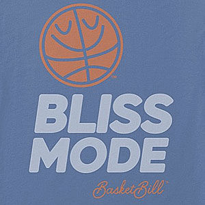 Happy basketball t-shirt in many colors for men and women.
