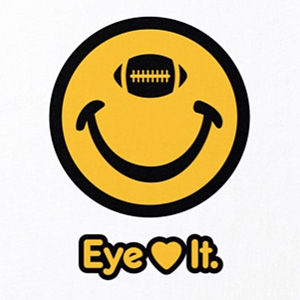 Eye love football t-shirt design in many colors.