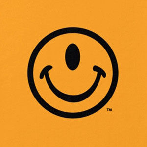 Smiley face t-shirt, one-eyed, in many colors, mens and womens.