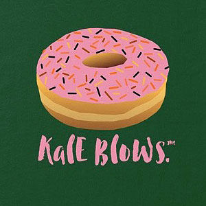 Pink donut t-shirt in mens and womens.
