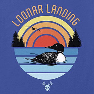 Loon t-shirt design for men and women in many colors of merchandise, including sweatshirts and hoodies.