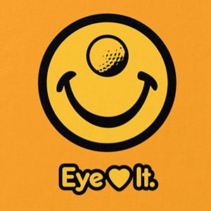 Eye love golf t-shirt design in many colors.