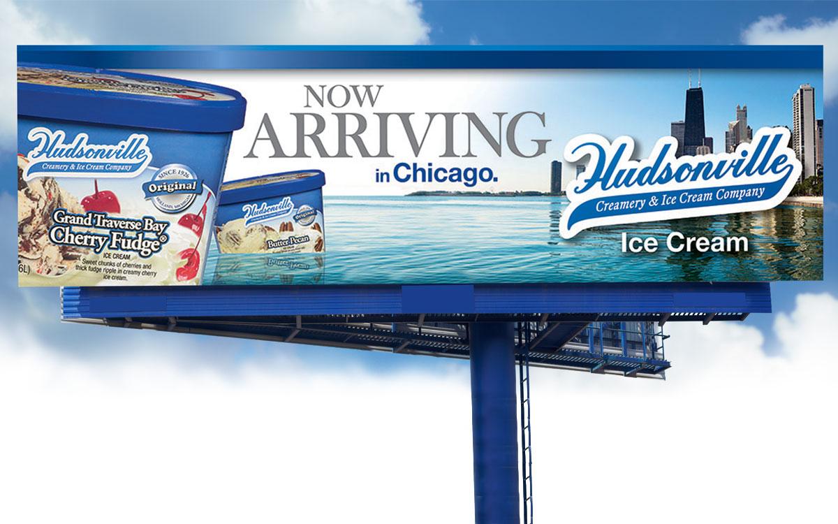 Ice cream advertising.