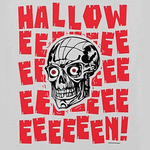 Halloween skull t-shirt for men and women, in many colors and styles.