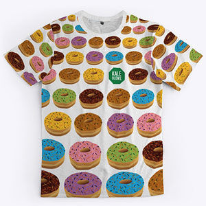 Donut t-shirt in mens and womens.
