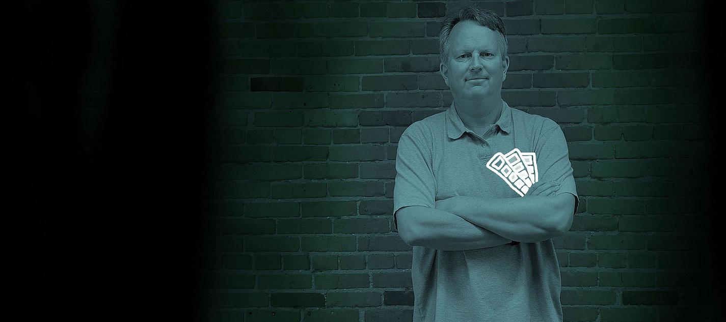 Pete Van Regenmorter advertising graphic designer.