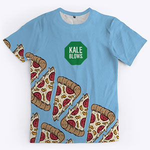 Pizza t-shirt in many colors for men and women.