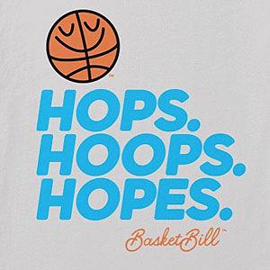 Hops. Hoops. Hopes. Basketball t-shirt in long sleeve, sweatshirt, hoodie and more.