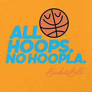 Hoops t-shirt in many colors and styles.