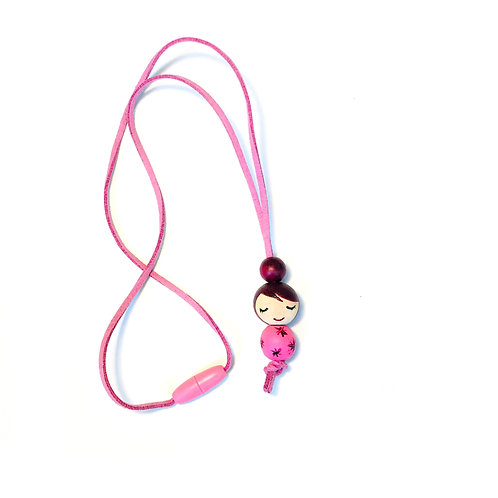 Necklace for girls Purple
