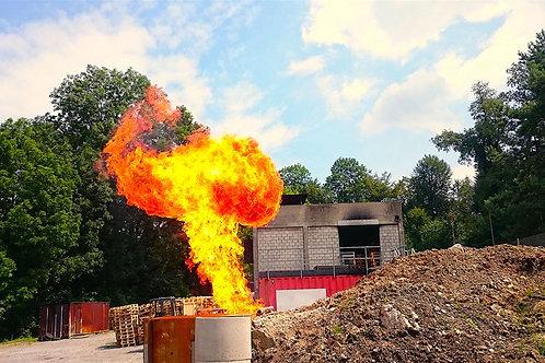 gas-pipeline fire-trainings-unit brandmodul