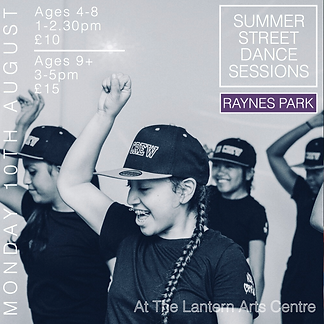 Raynes Park Street Dance Summer Workshops