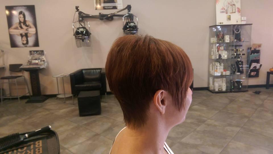 Women's short hair cut