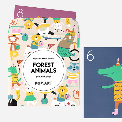 Hopscotch Floor Decals | Forest Animals
