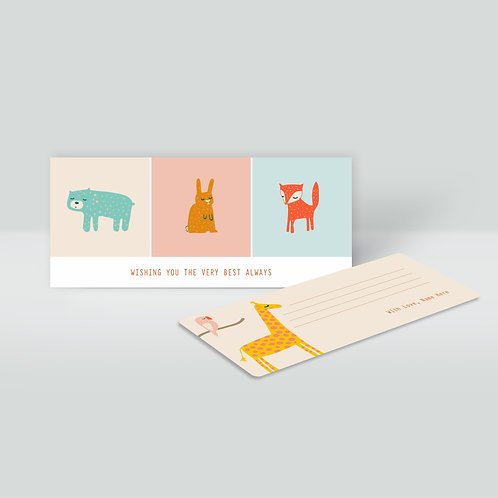 Flat Cards & Money Envelopes Set