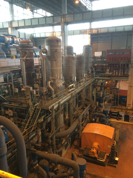 Inside the turbine hall at Ferrybridge C, March 2017