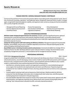 ResumePro Resume Writing Service Sample Resumes