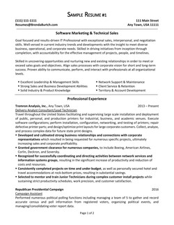 Software Marketing & Technical Sales