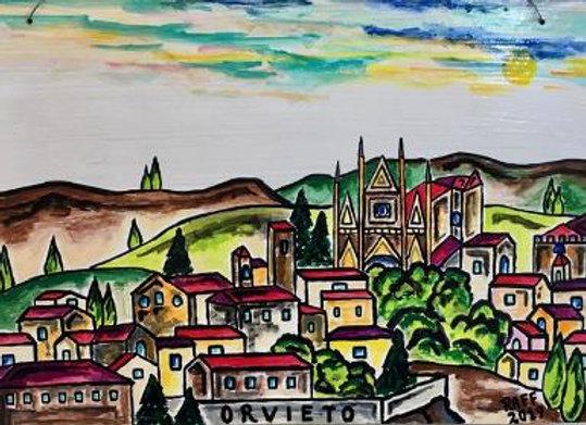 Hand Painted Italian Scenes