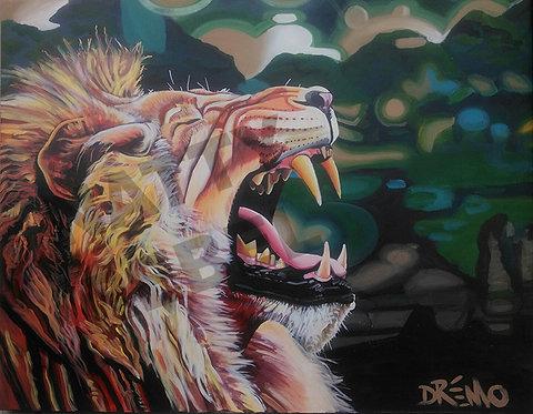 Lion Roar 2 Print
