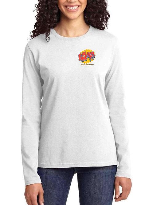 Ladies Long Sleeve Heart Print Logo