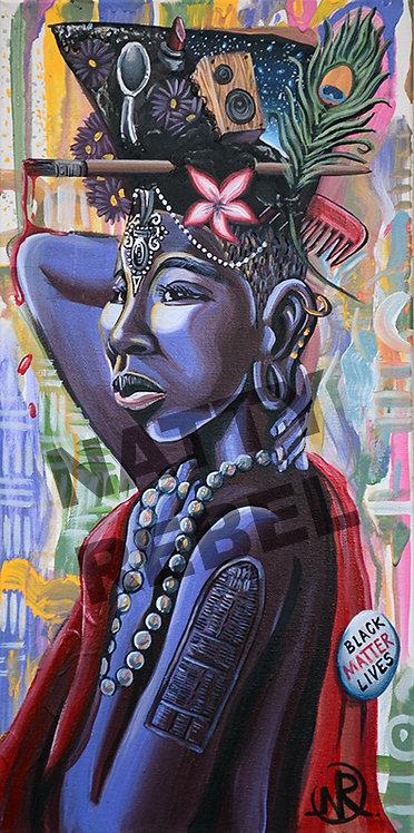 Afro Girl High-Top Print