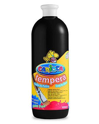 Carioca Tempera Suluboya Süper Yıkanabilir Siyah 1000 Ml.