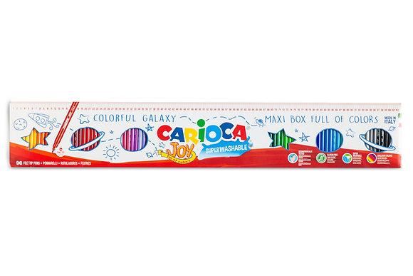 Carioca Joy Süper Yıkanabilir Keçeli Boya Kalemi 96'LI