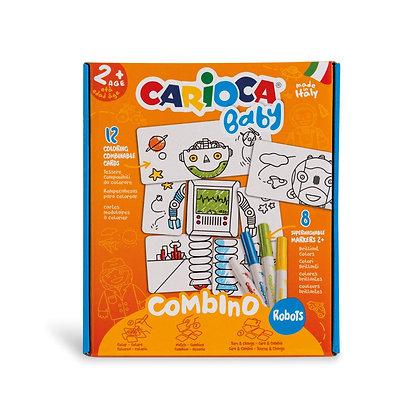 Carioca Bebek Puzzle Robotlar +2 Yaş (8 Ad. Bebek Keçeli)