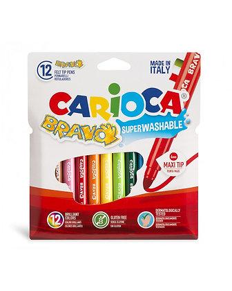 Carioca Bravo Süper Yıkanabilir Keçeli Boya Kalemi 12'Li