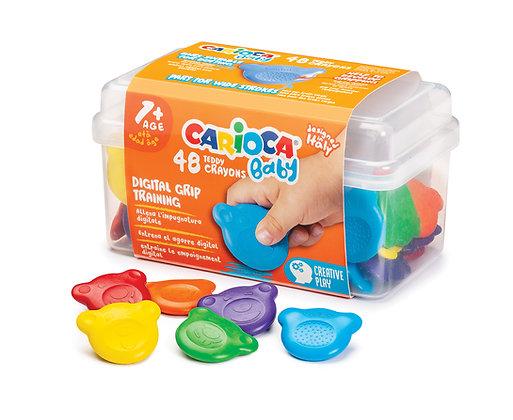 Carioca Baby Teddy Crayons 48'li +1 Yaş