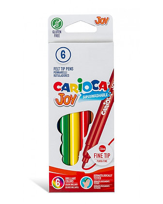 Carioca Joy Süper Yıkanabilir Keçeli Boya Kalemi 6'Lı