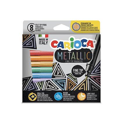 Carioca Metalik Keçeli Kalem 8'li