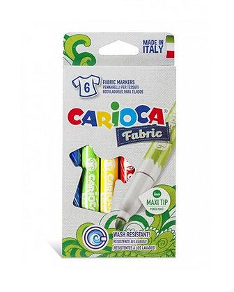 Carioca Keçeli Kumaş Boya Kalemi Maxı 6'Lı